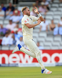England's Stuart Broad during day two of the First Investec Test match at Lord's, London. PRESS ASSOCIATION Photo. Picture date: Friday July 7, 2017. See PA story CRICKET England. Photo credit should read: Nigel French/PA Wire. RESTRICTIONS: Editorial use only. No commercial use without prior written consent of the ECB. Still image use only. No moving images to emulate broadcast. No removing or obscuring of sponsor logos.