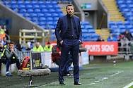 Fulham manager Slavisa Jovanovic looks on during the match. The Emirates FA Cup, 3rd round match, Cardiff city v Fulham at the Cardiff city stadium in Cardiff, South Wales on Sunday 8th January 2017.<br /> pic by Carl Robertson, Andrew Orchard sports photography.