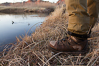 DETAIL OF ANGLER'S WADING BOOTS