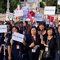 Manifestazione guide turistiche contro la de-regolamentazione delle visite guidate.