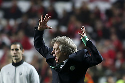 January 3, 2018 - Lisbon, Portugal - Sporting's coach Jorge Jesus reacts during the Portuguese League  football match between SL Benfica and Sporting CP at Luz  Stadium in Lisbon on January 3, 2018. (Credit Image: © Carlos Costa/NurPhoto via ZUMA Press)