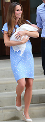 Duke and Duchess of Cambridge with their new baby boy<br /> Lindo Wing of St Mary's Hospital, London, United Kingdom<br /> Tuesday, 23rd July 2013<br /> Picture by Stephen Lock / i-Images