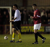 Photo: Jed Wee.<br /> Manchester United Reserves v Liverpool Reserves.<br /> 05/12/2005.<br /> <br /> Manchester United's Ole Gunnar Solskjaer leaves the pitch at the end of the first half.