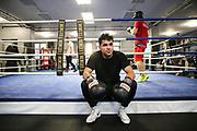 Boxen: 1. Bundesliga, Hamburg Giants, Hamburg, 13.02.2017<br /> Pressetraining zur Kooperation mit dem Hamburger Profi-Boxstall EC Boxing:<br /> Ammar Abbas Abduljabar (Giants) <br /> © Torsten Helmke