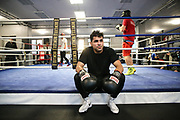 Boxen: 1. Bundesliga, Hamburg Giants, Hamburg, 13.02.2017<br /> Pressetraining zur Kooperation mit dem Hamburger Profi-Boxstall EC Boxing:<br /> Ammar Abbas Abduljabar (Giants) <br /> © Torsten Helmke