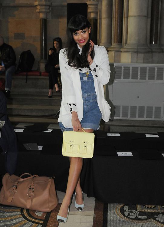 Jameela Jamil at Nichole Farhi AW 2012 fashion show during London Fashion Week, London, UK. 19/02/2012 Anne-Marie Michel/CatchlightMedia