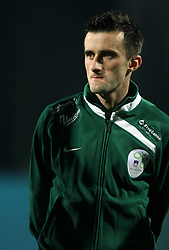 Amer Jukan of Slovenia (14) before  the UEFA Friendly match between national teams of Slovenia and Denmark at the Stadium on February 6, 2008 in Nova Gorica, Slovenia. Slovenia lost 2:1. (Photo by Vid Ponikvar / Sportal Images).