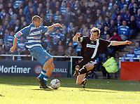 Photo: Kevin Poolman.<br />Reading v Derby County. Coca Cola Championship. 01/04/2006. James Harper scores Reading's first goal.