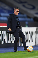 Football - 2020 / 2021 Europa League - Group F - Leicester City vs Zorya Luhansk - King Power Stadium<br /> <br /> Leicester City manager Brendan Rodgers on the touchline.<br /> <br /> COLORSPORT/ASHLEY WESTERN