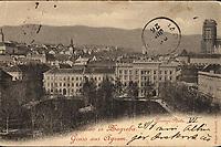 Pozdrav iz Zagreba= : Gruss aus Agram. Zvinji Platz. <br /> <br /> ImpresumDresden : Edgar Schmidt, [1898].<br /> Materijalni opis1 razglednica : tisak ; 9,1 x 14 cm.<br /> NakladnikEdgar Schmidt<br /> Vrstavizualna građa • razglednice<br /> ZbirkaZbirka razglednica • Grafička zbirka NSK<br /> Formatimage/jpeg<br /> PredmetZagreb –– Trg Nikole Šubića Zrinskog<br /> SignaturaRZG-ZRIN-12<br /> Obuhvat(vremenski)20. stoljeće<br /> NapomenaRazglednica je putovala. • Poleđina razglednice namijenjena je samo za adresu.<br /> PravaJavno dobro<br /> Identifikatori000953254<br /> NBN.HRNBN: urn:nbn:hr:238:237272 <br /> <br /> Izvor: Digitalne zbirke Nacionalne i sveučilišne knjižnice u Zagrebu