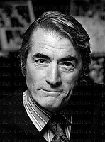 American legendary actor Gregory Peck. Photographed by Terry Fincher. 1973