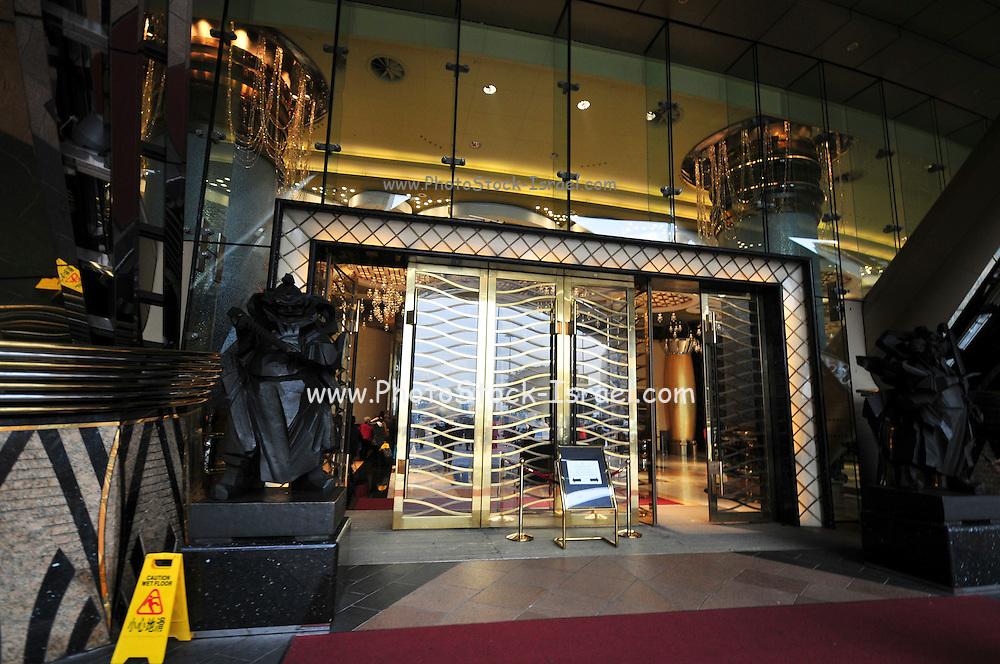 Asia, Southeast, People's Republic of China, Macau Exterior of the Grand Lisboa Hotel and Casino