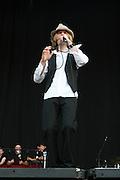 June 17, 2006; Manchester, TN.  2006 Bonnaroo Music Festival..Beck peforms at Bonnaroo 2006.  Photo by Bryan Rinnert