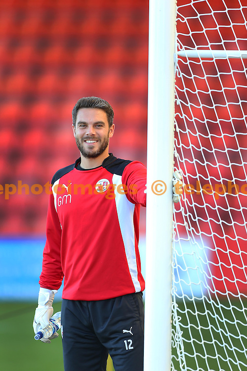 Crawley's Glenn Morris during the Sky Bet League 2 match between Cheltenham Town and Crawley Town at the Abbey Business Stadium in Cheltenham. October 15, 2016.<br /> James Boardman / Telephoto Images<br /> +44 7967 642437