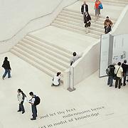 Overhead View Tennyson Quote British Museum - London, UK