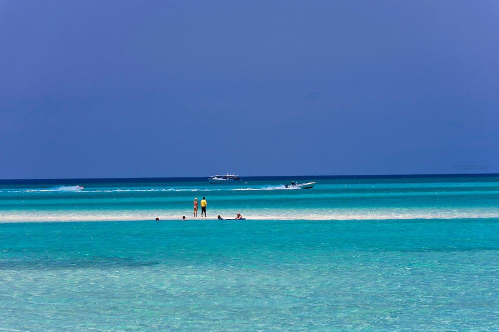 A sandbar in the ocean off Serenity Bay, Castaway Cay (Disney's private island), The Bahamas