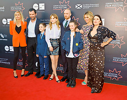 Edinburgh International Film Festival, Saturday, 23rd June 2018<br /> <br /> 'TWO FOR JOY' World Premiere<br /> <br /> Pictured:  Producer Emma Comley, Daniel Mays, Badger Skelton, Emelia Jones, Director Tom Beard, Bella Ramsey, Billie Piper and Sadie Frost<br /> <br /> (c) Alex Todd | Edinburgh Elite media