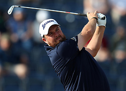 Republic Of Ireland's Shane Lowry tees off the 3rd during day one of The Open Championship 2018 at Carnoustie Golf Links, Angus. PRESS ASSOCIATION Photo. Picture date: Thursday July 19, 2018. See PA story GOLF Open. Photo credit should read: David Davies/PA Wire. RESTRICTIONS: Editorial use only. No commercial use. Still image use only. The Open Championship logo and clear link to The Open website (TheOpen.com) to be included on website publishing.