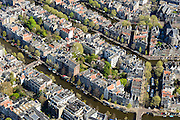 Nederland, Noord-Holland, Amsterdam, 09-04-2014;<br /> Close-up binnenstad en grachtengordel, Keizersgracht en Herengracht, rechts Leidsegracht met rondvaartboten. Midden links de Huidenstraat, een van de winkelstraten Negen Straatjes.<br /> Detailed view on center and canals of Amsterdam. <br /> luchtfoto (toeslag op standard tarieven);<br /> aerial photo (additional fee required);<br /> copyright foto/photo Siebe Swart