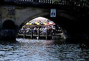 Henley Royal Regatta, Henley on Thames, ENGLAND,  1996, GV the Angel Pub, Garden through Henley Bridge Arch, Photo: Peter Spurrier/Intersport Images.  Mob +44 7973 819 551/email images@intersport-images.com Rowing Course: Henley Reach