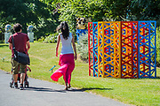 Rasheed Araeen, Summertime - The Regents Park(2017) - The Frieze Sculpture Park 2017 comprises large-scale works, set in the English Gardens . The installations will remain on view until 8 Oct 2017.