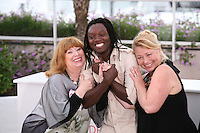 Actress Margarethe Tiesl, Actor Peter Kazungu, Actress Inge Maux, at the photocall for the film Paradies : Liebe at the 65th Cannes Film Festival. Friday 18th May 2012 in Cannes Film Festival, France.