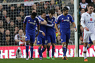 Oscar of Chelsea celebrates after scoring his sides 1st goal with Eden Hazard of Chelsea. The Emirates FA cup, 4th round match, MK Dons v Chelsea at the Stadium MK in Milton Keynes on Sunday 31st January 2016.<br /> pic by John Patrick Fletcher, Andrew Orchard sports photography.