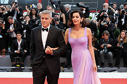 Suburbicon premiere at the 74th Venice Film Festival. 02 Sep 2017 Pictured: VENICE, ITALY - SEPTEMBER 02: George Clooney and Amal Clooney walk the red carpet ahead of the 'Suburbicon' screening during the 74th Venice Film Festival at Sala Grande on September 2, 2017 in Venice, Italy. Photo credit: MEGA TheMegaAgency.com +1 888 505 6342