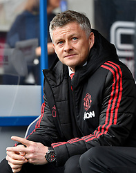 Manchester United Manager Ole Gunnar Solskjaer during the Premier League match at the John Smith's Stadium, Huddersfield.