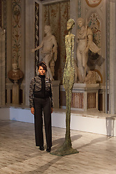 Anna Coliva direttrice Museo di Villa Borghese Swiss painter and sculptor Alberto Giacometti, as part of the exhibition of paintings and sculptures 'Giacometti La Scultura', at the Galleria Borghese Art Gallery, in Rome, on February 3, 2014