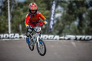 #911 (SHRIEVER Bethany) GBR during practice at round 1 of the 2018 UCI BMX Supercross World Cup in Santiago del Estero, Argentina.