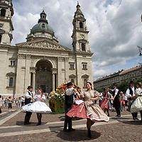 Advertising festival of the Debrecen Flower Carnaval held at St Steven square in Budapest, Hungary. Saturday, 11. July 2009. ATTILA VOLGYI