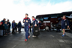 Will Cliff of Bristol Rugby arrives at the AJ Bell Stadium - Rogan Thomson/JMP - 01/01/2017 - RUGBY UNION - AJ Bell Stadium - Manchester, England - Sale Sharks v Bristol Rugby - Aviva Premiership New Year's Day Fixture.
