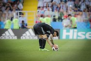 Lionel Messi of Argentina prepares the penalty kick during the 2018 FIFA World Cup Russia, Group D football match between Argentina and Iceland on June 16, 2018 at Spartak Stadium in Moscow, Russia - Photo Thiago Bernardes / FramePhoto / ProSportsImages / DPPI
