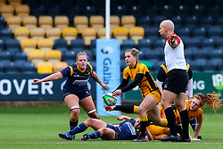 Claudia MacDonald of Wasps FC Ladies passes out of the ruck - Mandatory by-line: Nick Browning/JMP - 24/10/2020 - RUGBY - Sixways Stadium - Worcester, England - Worcester Warriors Women v Wasps FC Ladies - Allianz Premier 15s