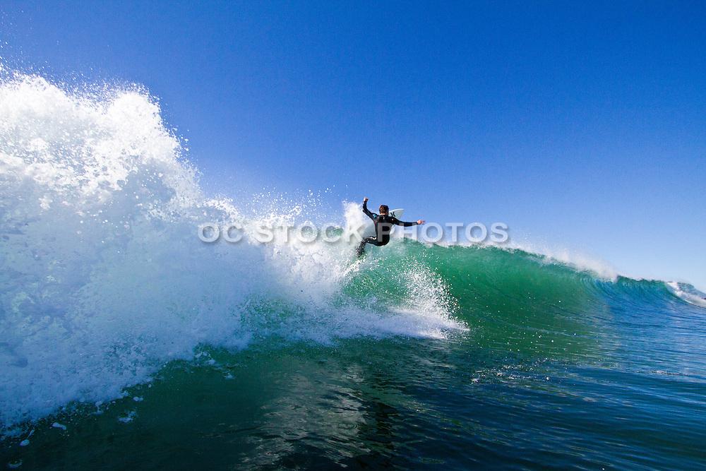 Surfing Newport Beach California