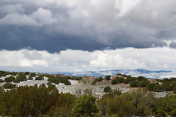 light snowfall on the New Mexico landscape