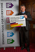 Huw Irranca-Davies MP supporting the Enough Food for Everyone?IF campaign. .MP's and Peers attended the parliamentary launch of the IF campaign in the State Rooms of Speakers House, Palace of Westminster. London, UK.