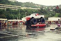 Stunt- og monster truck show i 1998 i Ålesund.<br /> Foto: Svein Ove Ekornesvåg