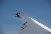 The freestyle snowboard slopestyle course open for practice on the 7th February 2018 at Phoenix Snow Park for the Pyeongchang 2018 Winter Olympics in South Korea