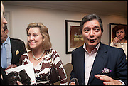 ISABELLA MOORSOM; HUGO VILLALOBOS, The hon Alexandra Foley hosts drinks to introduce ' Lady Foley Grand Tour' with special guest Julian Fellowes. the Sloane Club. Lower Sloane st. London. 14 May 2014