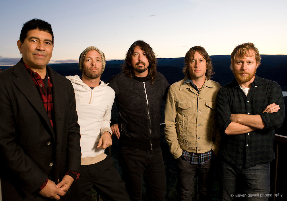 Quincy, WA. - May 27th, 2011 Foo Fighters poses for a portrait backstage at the Sasquatch Music Festival in Quincy, WA. United States
