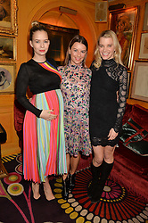 Left to right, MARISSA HERMER, JULIET ANGUS and JULIE MONTAGU at the launch of GP Nutrition held at Annabel's, 44 Berkeley Square, London on 26th January 2016.
