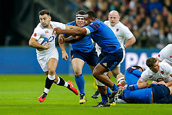 England Scrum-Half Danny Care breaks clear from France Prop Jefferson Poirot going on to score a try - Mandatory byline: Rogan Thomson/JMP - 19/03/2016 - RUGBY UNION - Stade de France - Paris, France - France v England - RBS 6 Nations 2016.