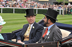 Left HRH The DUKE OF YORK at the 3rd day of Royal Ascot 2009 on 18th June 2009.