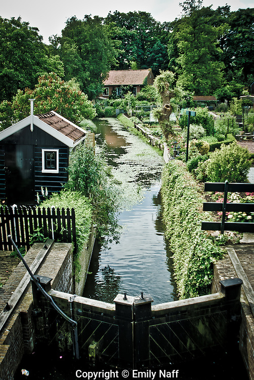 View of Canal in Edam, Netherlands.