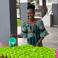 Milk and break is prepared for the children after Sunday chapel service at the Heal Africa hospital in Goma, Congo.