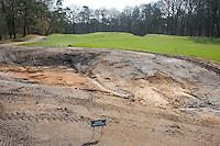 HILVERSUM - Nieuwe bunker fairway hole 11. Veranderingen aan de baan van Hilversumsche Golf Club. COPYRIGHT KOEN SUYK