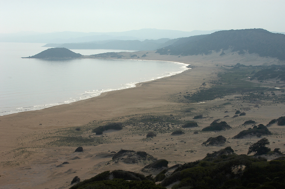 Beach on the south coast of Karpaz Peninsula, Northern Cyprus