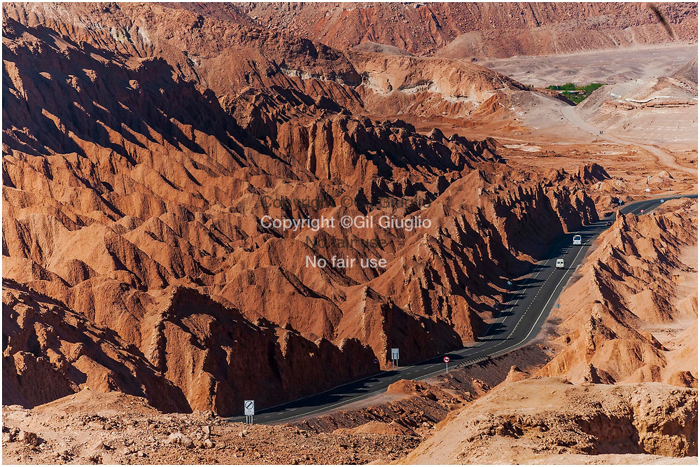 Chile, Atacama desert, El Loa province, Antofagasta region, Atacama desert, Dinosaur Valley area of San Pedro oasis at the World Unesco heritage // Chili, désert d'Atacama, province El Loa, région Antofagasta nord du pays, désert Atacama, valley des Dinosaures au Patrimoine mondial de l'Unesco et proche de l'oasis San Pedro